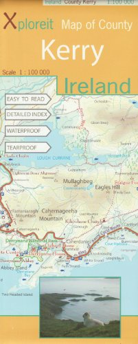 Xploreit Map of County Kerry, Ireland (Xploreit County Series)