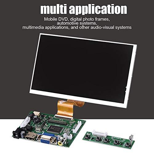 7-Zoll-1024X600-Bildschirm, HDMI-Bildschirm, audiovisuelles System für Raspberry Pi Mobile DVD