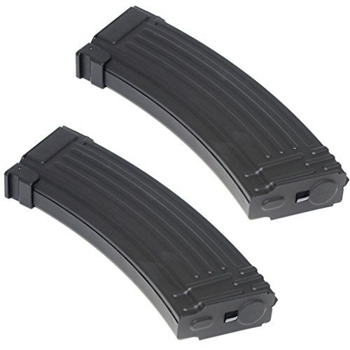 Airsoft Parts 2pcs Pack CYMA 140rd Mid-Cap Metal Magazine for AK-Series AEG Black