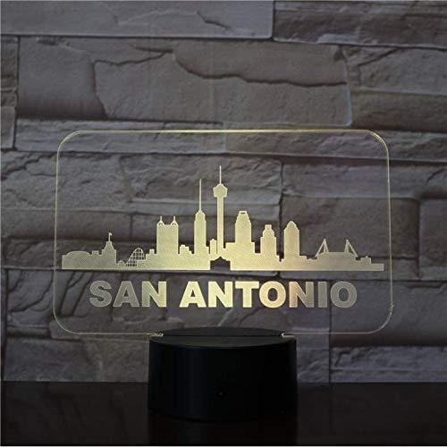 3D Illusion Nachtlicht Stadt 3d lampe für nacht dekorative helle basis led nachtlicht lampe nachtlicht wunderbares geschenk für kinder xi521