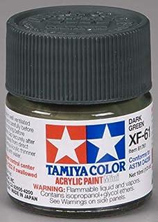Tamiya 81761 - Pintura Acrílica Mini, Mate Verde Oscuro Frasco de 10 ml, XF-61