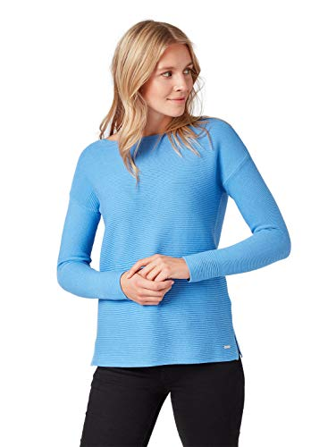 TOM TAILOR Damen 1007938 Pullover, Blau (sea Blue 15497), L
