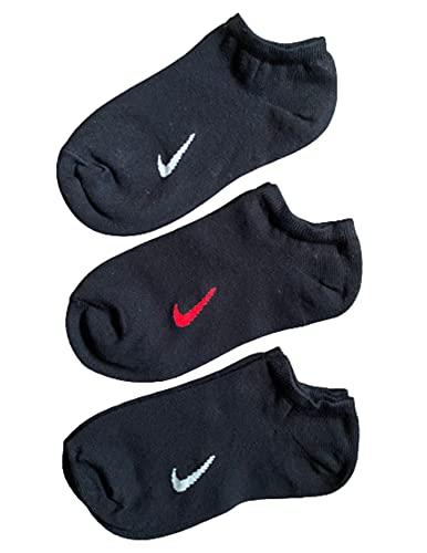 Nike No Show Sport - Calzini invisibili, confezione da 3 paia, colore: Nero/Multi Originali 2006 Retro varie misure, Nero , L
