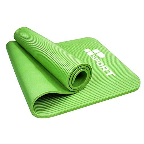 MP Sport NBR Yoga Mat 183x61x1cm – Tappetino per Esercizi - Materassino da Campeggio in Schiuma - Fitness - Pilates - Allenamento a Casa - Ginnastica - Stretch (Green)