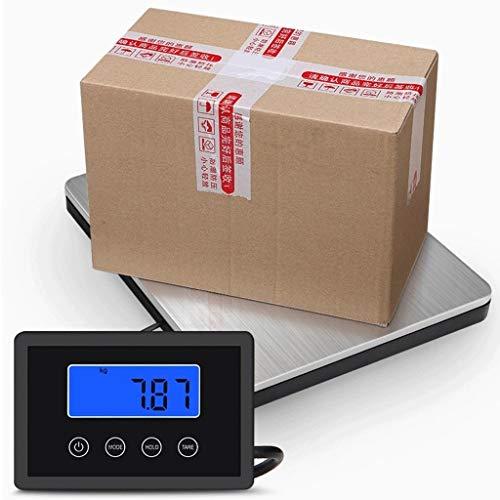 YZSHOUSE Alta precisión Digital Escala electrónica - 180kg / 50g Profesión Postal Peso Básculas Plataforma Acero Inoxidable for Tienda Comercial Cocina Báscula Paquete pesaje - Plata