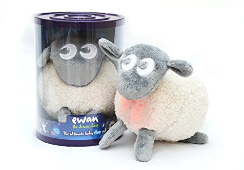 Sweet Dreamers, Ewan the Dream Sheep, Grey - Baby White/Pink Noise Machine and Sleep Aid Toy with Night Light.