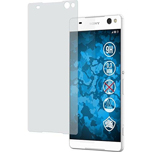 PhoneNatic 2 x Glas-Folie matt kompatibel mit Sony Xperia C5 Ultra - Panzerglas für Xperia C5 Ultra