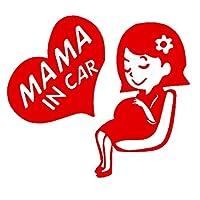 車のラベル ファッション妊娠中の女性かわいい創造的な粘着トラックかわいいファッション車のトラックステッカー19cm * 17cm (Color : Red)