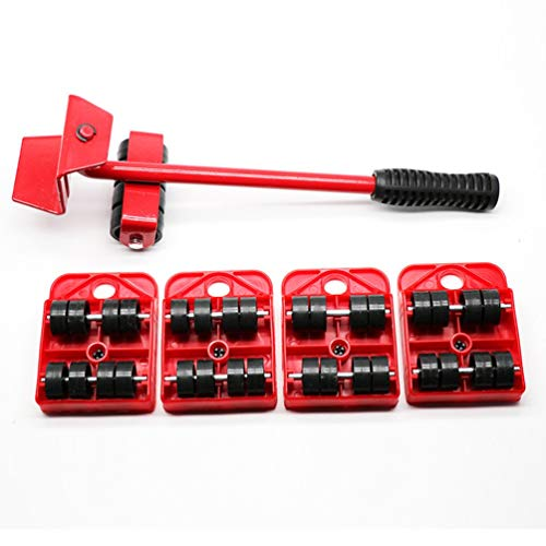 Unbekannt Emily Furniture Lifter Easy Moving Sliders 5 Packungen Mover Tool Set Lifting System rot