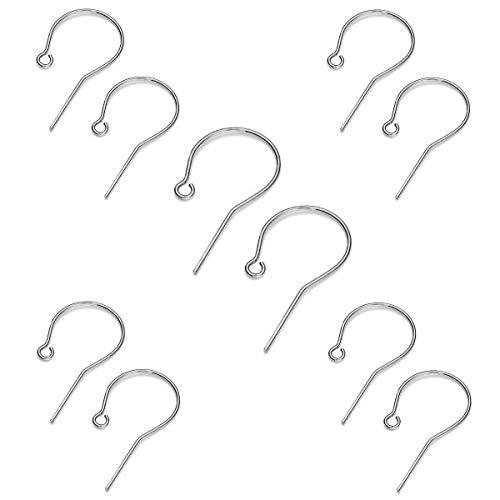 My-Bead 5 Paar 10 Stück Schlichte Ohrhänger 24mm x 12mm 925 Sterling Silber nickelfrei basteln DIY
