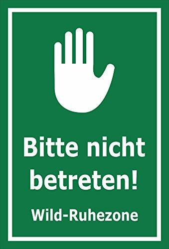 Melis Folienwerkstatt Schild Wild-Ruhezone - 30x20cm - Bohrlöcher - 3mm Hartschaum – 20 VAR S00359-016-E