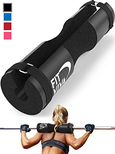 Fit Viva Barbell Pad for Standard and Olympic Barbells with Safety...
