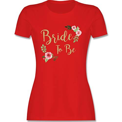JGA Junggesellenabschied Frauen - Bride to Be - XXL - Rot - JGA Bride to be Tshirt - L191 - Tailliertes Tshirt für Damen und Frauen T-Shirt