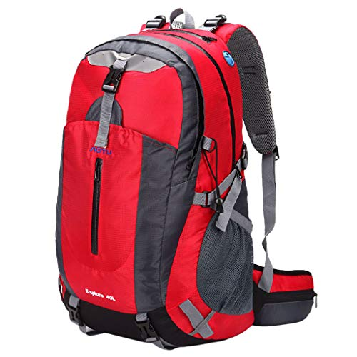 Yowablo Outdoor Wandern Wasserdichter Reisegepäckrucksack New Mint with Suspension Syste (1Stck,Rot)