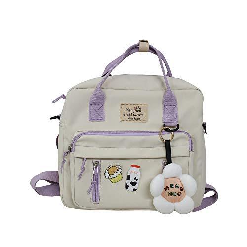 Dailing Bolso bandolera para mujer con múltiples bolsillos, casual, con cremalleras, nailon, multifuncional, casual, 3 en 1, bolso de hombro, mochila/bolso cruzado