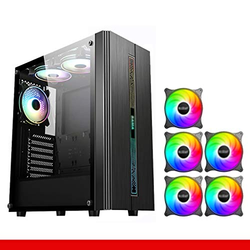 Gaming Computer PC Case For Desktop Computer PC Computer case, desktop water-cooled case, mid-tower full-side transparent case, ATX silent and dust-proof gaming mainframe-mid-tower tempered glass case