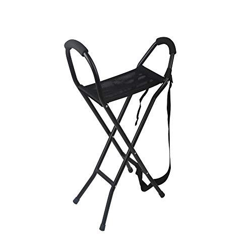 MOXIN Canne/Chaise Pliante, Canne de Pliage de Tige de Selle Portable, stabilité et Soutien, Marche légère