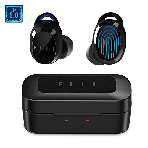 Bluetooth Wireless Earbuds - FIIL TWS Earbuds Wireless Headphones, Support FIIL+ APP for 15 EQ Modes, Waterproof Earbuds with Wireless Charging Case, Stereo Noise Cancelling Earbuds with Microphone