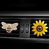 finefun - Deodorante per Auto con Clip per Auto, Girasole e api, Decorazione Regalo per Auto con Clip per bocchette di Ventilazione