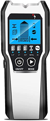 Localizador 5 en 1 multifunción, escáner de pared con pantalla LCD HD para metales, tubos, madera, cables eléctricos, escáner de tensión AC
