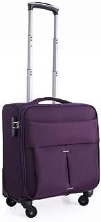 Classic Trolley Case Oxford Cloth Material Universal Password Lock Universal Wheel Fashion Mini Suitcase 18 Inches (Color : Purple)