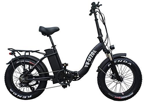 Fat Tire Folding Electric Bike for Men 48V 750W Power 20Inch 4.0 Electric Bicycle, Beach Snow Commute EBikes 7 Speed (Black)