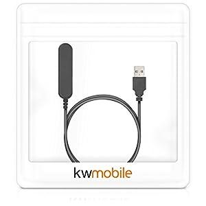 kwmobile Cable de Carga Compatible con Polar V800 - USB Negro para Fitness Tracker y smartwatch