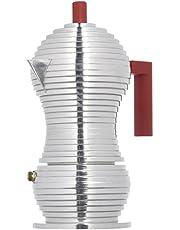 Alessi MDL02/3 R dzbanek do kawy, aluminium, czerwony