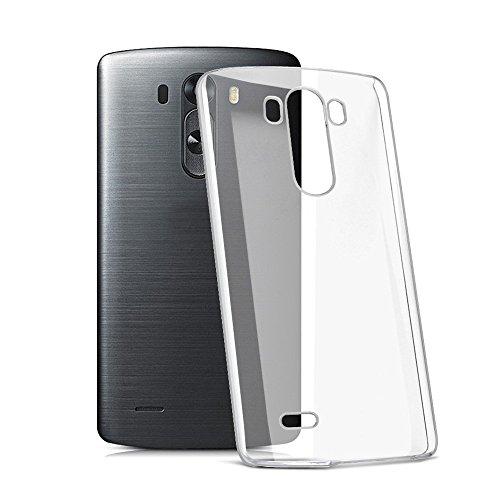 Custodia LG G3, YVBOX Ultra Sottile Anti-Graffio Trasparente Morbido TPU Gel Silicone Bumper Caso Protettiva Custodia Protezione Case Cover Per LG G3 D850 D855 - Cristallo Chiaro