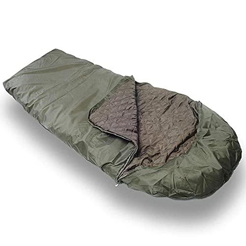 XHAEJ 5~10 ° C Bolsa de Dormir para Acampar, Saco de Dormir Ligero y Grueso cálido, Equipo de Aventura de Senderismo de Viaje al Aire Libre,luz