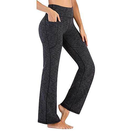 Femme Pantalon Large de Sport Lâche Fitness Jogging Yoga Été Chic Taille Haute Élastique Cordon Pants Trousers Imprimé Casual Mode Leggings Femme Yoga Pantalon à Pattes d'éléphant Lâche Longue Imprimé