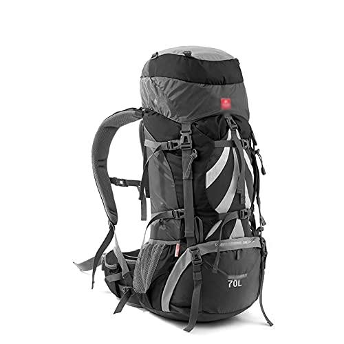 Adesign Mochila de senderismo, mochila de senderismo 70L, mochila de montañismo a prueba de agua con cubierta de lluvia para hombres mujeres, mochila de viaje para camping escalada deportes al aire li