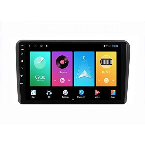 MIVPD Car Stereo Android 10.0 Radio para Audi A3 8P S3 RS3 2003-2013 Navegación GPS Unidad Principal de 9 Pulgadas Pantalla táctil Reproductor Multimedia MP5 Receptor de Video con 4G WiFi SWC Carplay