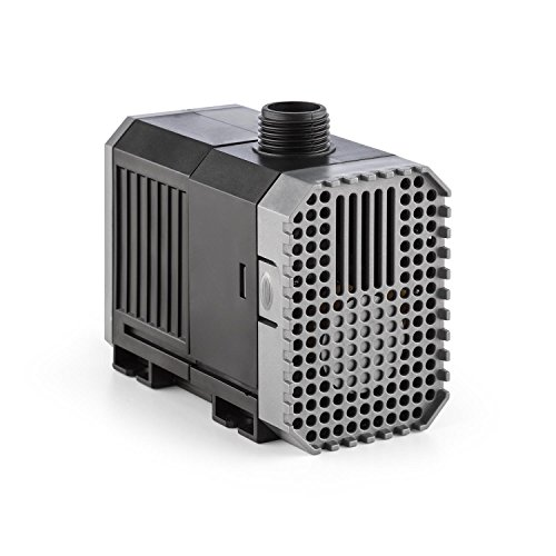 Waldbeck Nemesis - T25 Teichpumpe, sparsam, 25 Watt Leistungsaufnahme, max. 1.8 m Förderhöhe, Schutzklasse IPX8 mit Schutzkontaktstecke, 1500L/h Durchsatz, 10 m Kabel, ca. 521 Gramm, schwarz