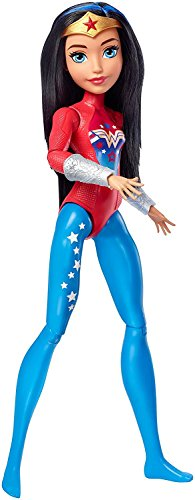 DC Superhero Girls- Muñeca Superheroína Wonder Woman de Entrenamient, Multicolor (Mattel FJG63)
