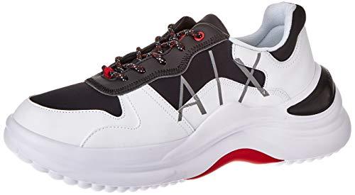 Armani Exchange Męskie sneakersy Milan Chunky, Black Opt White - 41 EU