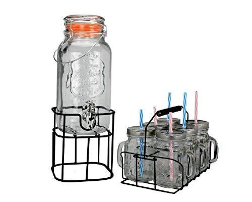 Ard'time - Fontaine en verre 3 L et 6 verres