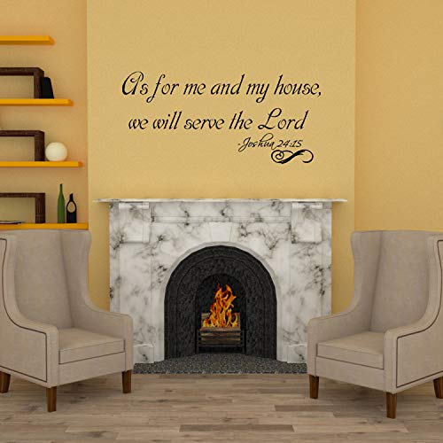 As for me and My House we Will Serve The Lord Vinyl Wall Decal Art Christ Bible Vinyl Removable Letters