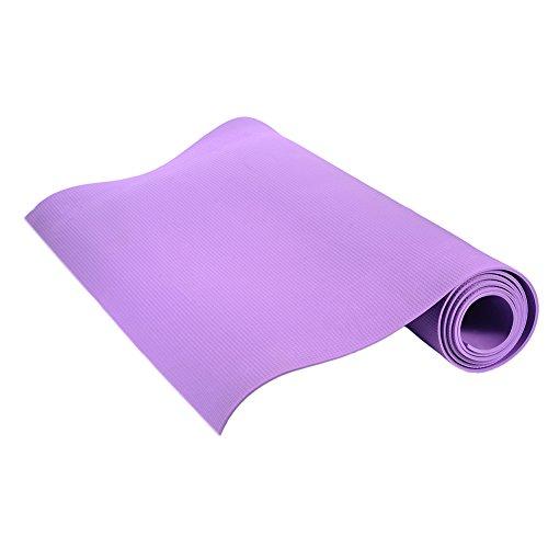 Dubleir Grand Tapis de Yoga Premium épais et Confortable, 4mm Tapis de Yoga et Fitness pour Pilates/Fitness/Sport/Gym/Ecologique et recyclables (Violet:176 * 60 * 0.4CM)