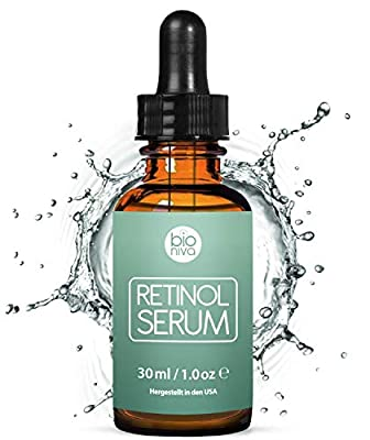 Award-Winning Retinol Serum - Retinol Liposome Delivery System with Vitamin C, Aloe, Vegan Hyaluronic Acid - High Strength Anti Aging Serum for face, décolleté and body from Bioniva 30ml