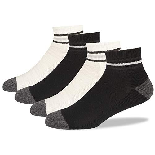 +MD 4 Paar Merinowolle Socken Wintersocken Damen Herren warm,Mit 83,9prozent Wolle Wollsocken Wandersocke Sportsocken Freizeit Business Socken 43-46