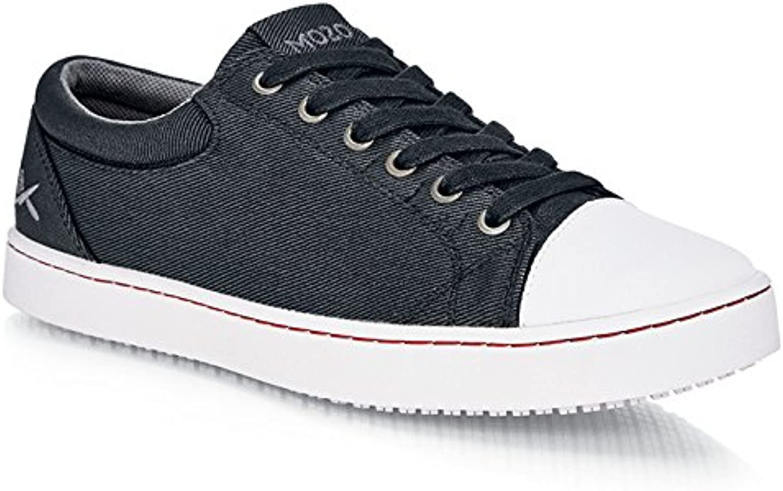 Schuhe for Crews M31165-46 11 MOZO GRIND Rutschhemmende Canvas-Turnschuhe, Herren, Größe 46 EU, SCHWARZ Weiß