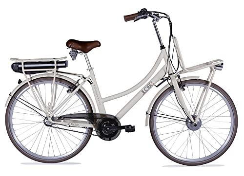 LLOBE City E-Bike Rosendaal 2 Lady beige 28 Zoll, Akku 36V / 10.4Ah, 250W Motor