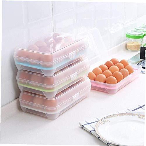 Layla Beauty Store Bandeja para El Almacenamiento De La Nevera para La Bandeja Interna para El Almacenamiento De Los Huevos De Caja De Alimentos Congelados con Tapa Inicio,Rosado