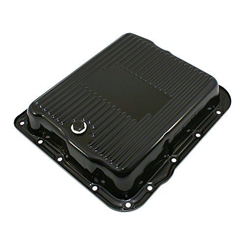 Assault Racing Products A7599BK GM 700R4 4L60E Black Transmission Pan Stock Capacity Automatic Trans 4L60 4L65E