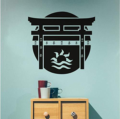Torii Japanse poort muursticker vinyl sticker Japanse cultuur huis klevende kunst wandafbeeldingen slaapkamer decor accessoires
