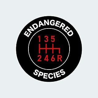 fagraphix Stick Shift Endangered Species Sticker Self Adhesive Vinyl Decal Manual Transmission
