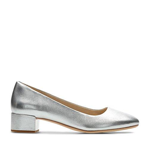 Clarks Damen Orabella Alice Stiefeletten, Silber (Silver Leather Silver Leather), 38 EU