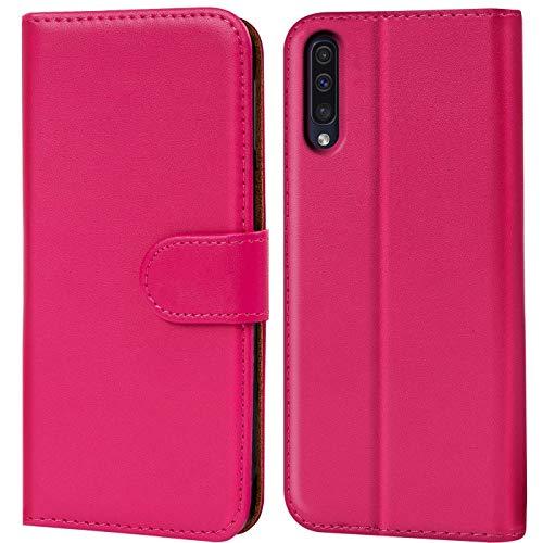 Verco Galaxy A50 Hülle, Samsung A30s Hülle Handyhülle für Samsung Galaxy A50 Tasche PU Leder Flip Hülle Brieftasche - Pink