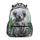 Toprint Koala Watercolor Branch Backpack School Travel Bag Animals Casual Laptop Daypack Bookbag Waterproof Student Computer Bag for Women Men Girls Kids Boy College Work
